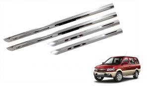 Buy Trigcars Chevrolet Tavera Car Steel Chrome Side Beading online