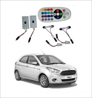 Buy Trigcars Ford Figo New 2 X 16 Colors Rgb Bright 5050 LED Car Roof Dome Light Festoon T10 IR Remote online