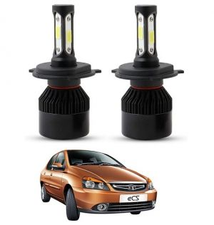 Buy Trigcars Tata Indigo Ecs LED Headlight Nighteye Light Set Of 2 online