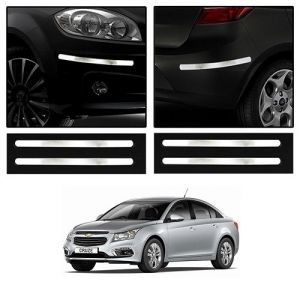 Buy Trigcars Chevrolet Cruze Car Chrome Bumper Scratch Potection Guard Car Bluetooth online