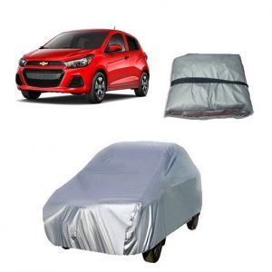 Buy Trigcars Chevrolet Spark Car Cover Silver online