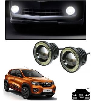 Buy Trigcars Renault Kwid Car High Power Fog Light With Angel Eye online