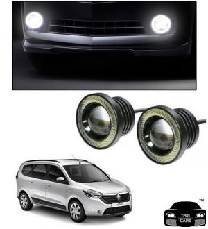 Buy Trigcars Renault Lodgy Car High Power Fog Light With Angel Eye online