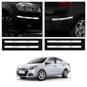 Buy Trigcars Renault Scala Car Chrome Bumper Scratch Potection Guard Car Bluetooth online