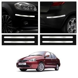 Buy Trigcars Tata Indigo Sx Car Chrome Bumper Scratch Potection Guard Car Bluetooth online