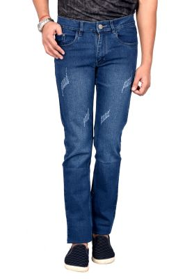 Buy Waiverson Slim Fit Blue Distressed Jeans For Men online