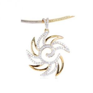 Buy Avsar Real Gold and Diamond Stylish PENDANT online