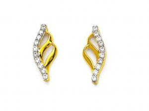 Buy Avsar Real Gold And Diamond Naina Earring ( Code - Ave112n ) online