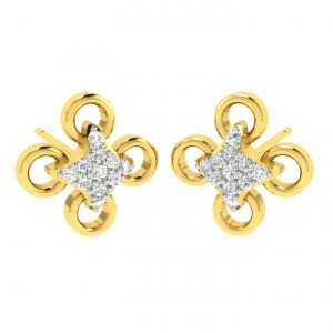 Buy Avsar Real Gold And Diamond Nitisha Earring (code - Ave357a) online