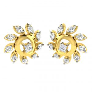 Buy Avsar Real Gold And Diamond Karish Earring (code - Ave374a) online
