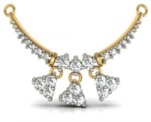 Buy Avsar Real Gold and Cubic Zirconia Stone Mangalsutra online
