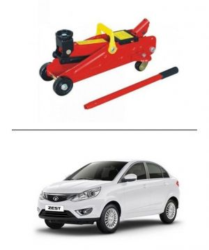 Buy Autostark 2 Ton Professional Trolley Hydraulic Jack (red) For Tata Zest online