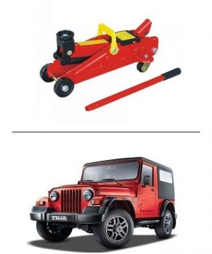 Buy Autostark 2 Ton Professional Trolley Hydraulic Jack (red) For Mahindra Thar online