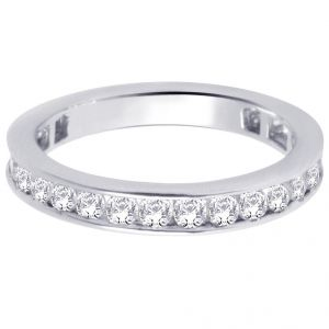 Hoop Silver With Cz Diamond Silver Ring For Womens Rf4130
