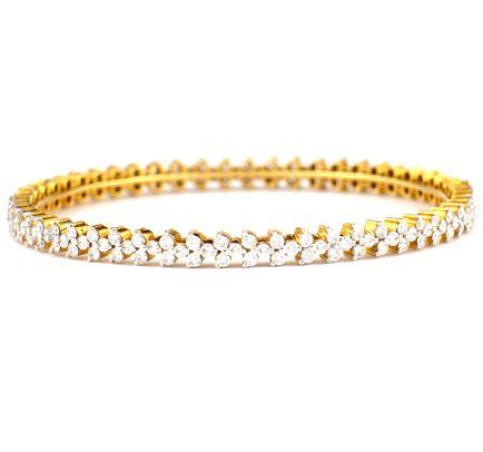 Buy Avsar Real Gold and Diamond Bangles line