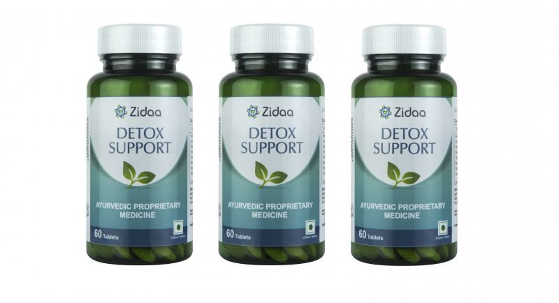 Buy Zidaa Herbal Supplement for Detox, 60 Tablets Each, Pack of 3 online