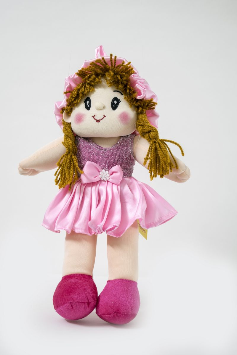 Buy Baby Doll Girl Monica Satin Girl Pink Color by Lovely Toys online