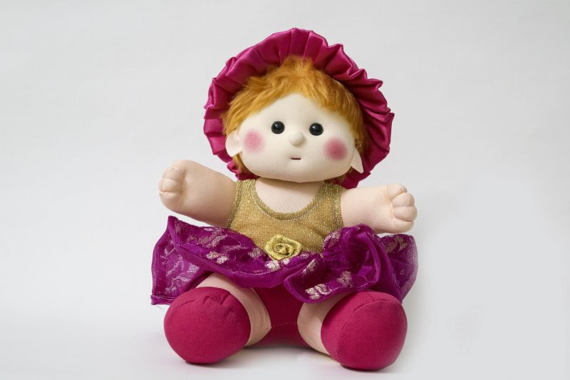 Buy Baby Doll Girl Sania Golden/Brasso Color by Lovely Toys online