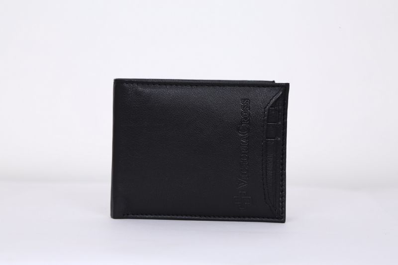 Buy Mens Leather Wallet (black) By Victoria Cross (code - Vcw 011) online
