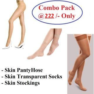 Buy Women Combo Pack Of Hot Skin Stockings Pantyhose Transparent Socks For Girls And Ladies online