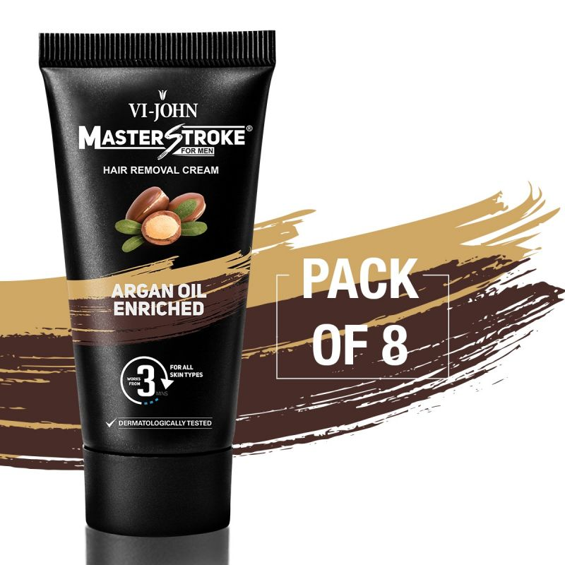 Buy Master Stroke Men Hair Removal Cream Argan Oil 60gm Pack Of 8 online