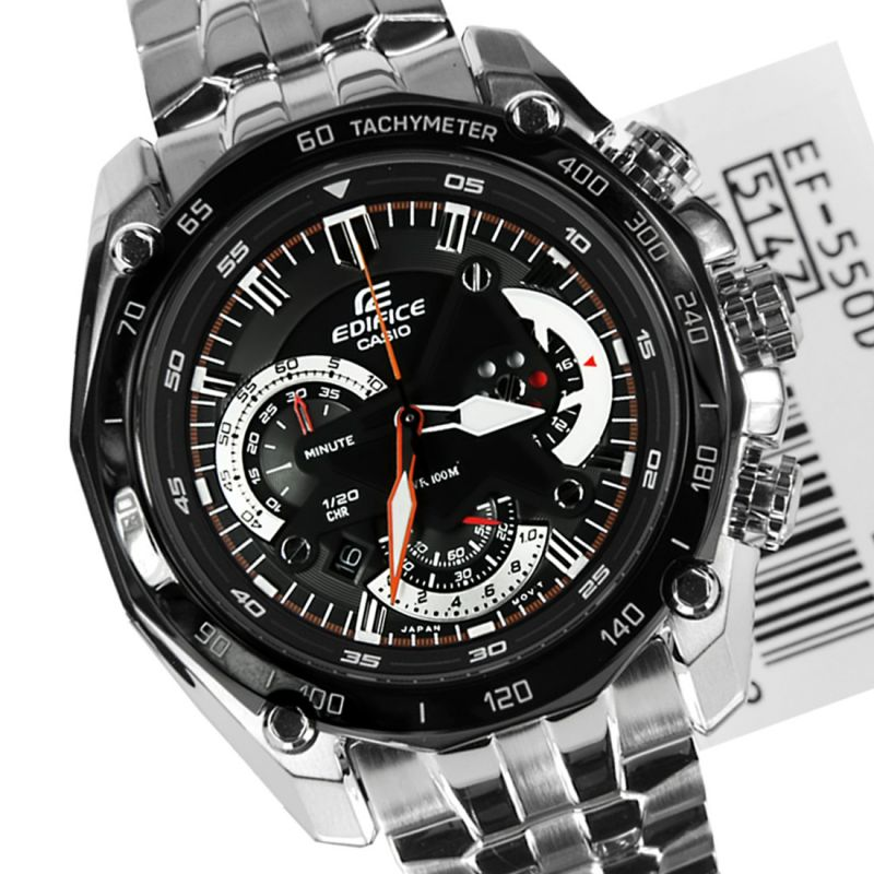 61d0bf915a0a Buy Casio 550 Black Dial Silver Chain Watch For Men Online