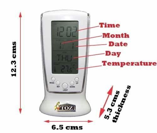 Buy Square Digital Clock 510 With Calender Alarm Thermometer online