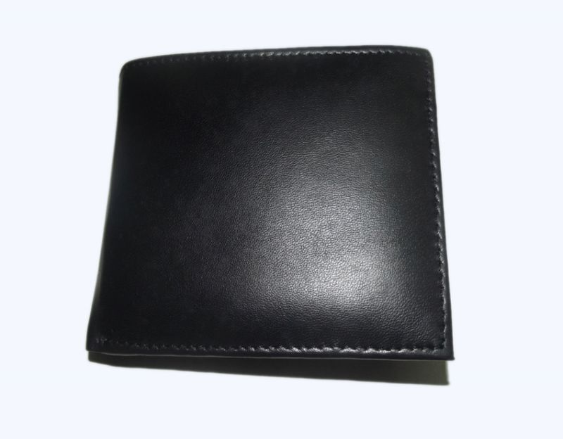 Buy Pe Mens New Style Pure Sheep Black Leather Wallet online