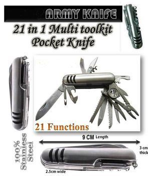 Buy Grand Harvest 21 In 1 Swiss Army Camping Knife And A Multipurpose Toolkit online