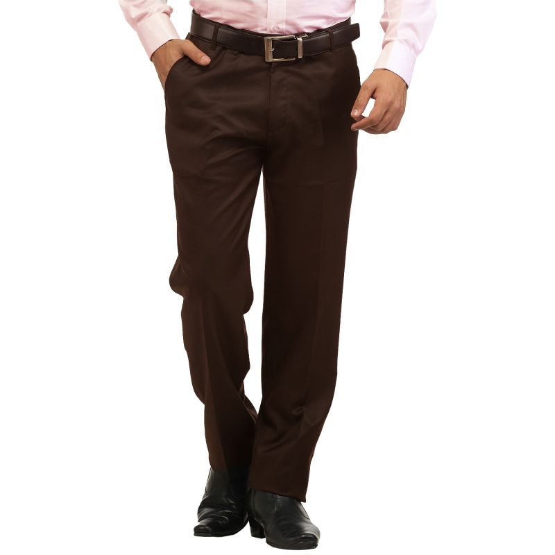 8c02c739af8 Buy Inspire Coffee Slim Fit Formal Trouser Online