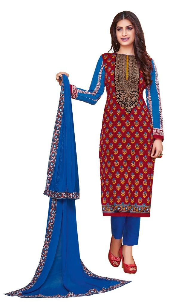 2a9611e0f2 Buy Padmini Unstitched Printed Cotton Dress Material (product Code -  Dtkakashish2510) online