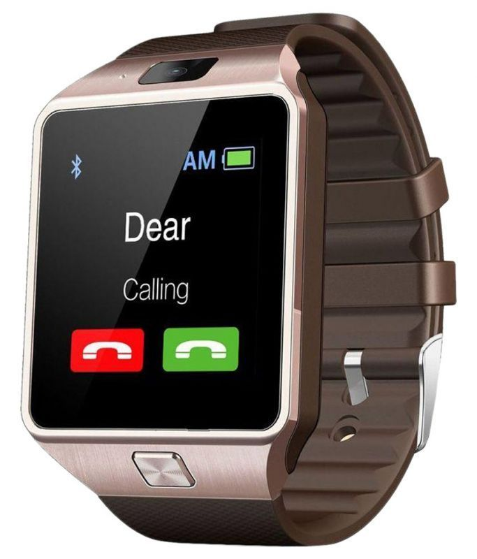 Buy Cubee Dz09 Bluetooth Smart Wrist Watch Mobile Phone With Sim Slot,camera And Android Ios Connectivity - Gold online