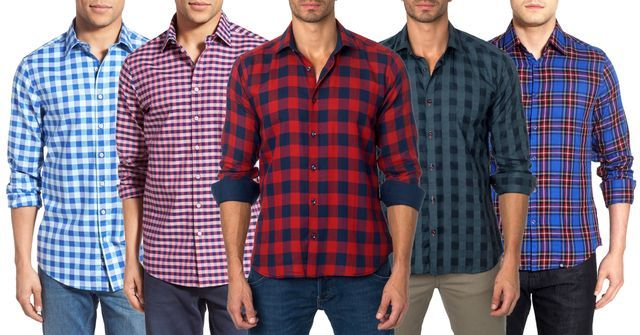 Buy Assorted Checks Shirts Pack Of 5 online