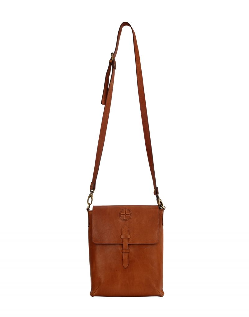 Buy JL Collections Unisex Tan Leather Shoulder sling Bag online