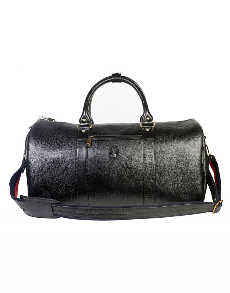 Buy Jl Collections Leather 19 Inch Square Duffel Travel Bag online