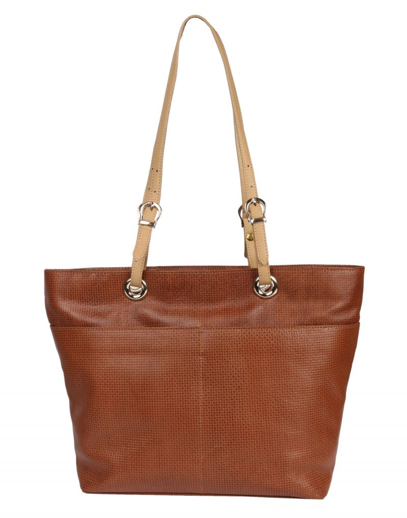 Buy Jl Collections Women's Leather Brown Shoulder Bag online