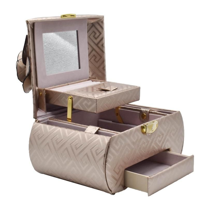 Buy Jewelry Organizer Box With Mirror Pullout Drawer Designer