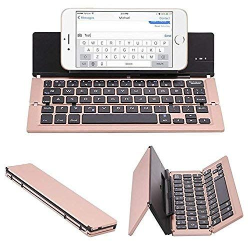 Buy Untech Foldable Wireless Bluetooth Keyboard With Kickstand F18 (rose Gold) online