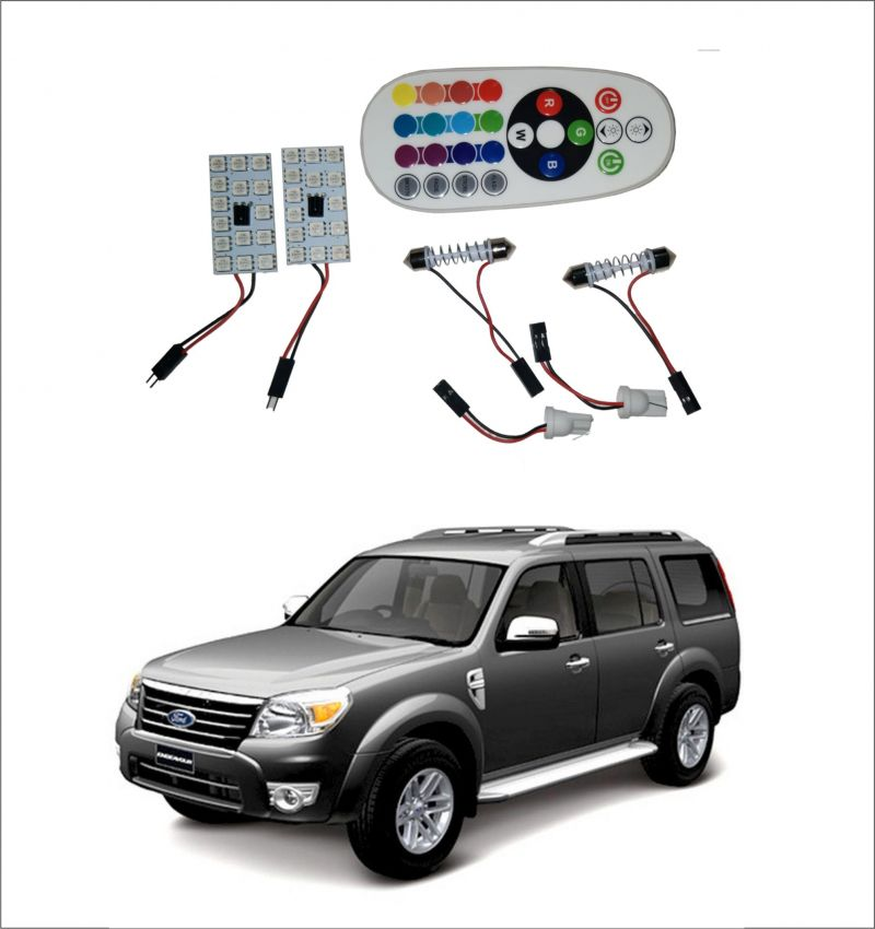 Buy Trigcars Ford Endeavour Old 2 X 16 Colors Rgb Bright 5050 LED Car Roof Dome Light Festoon T10 IR Remote online