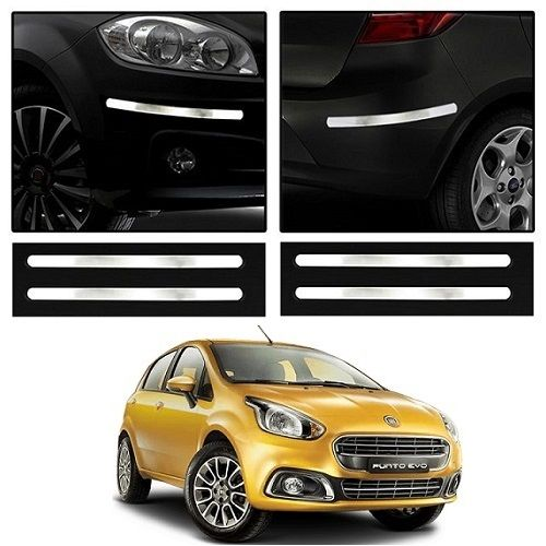 Buy Trigcars Fiat Punto Evo Car Chrome Bumper Scratch Potection Guard Car Bluetooth online