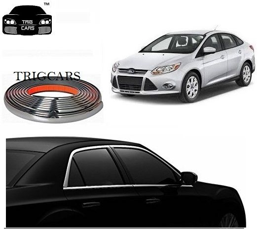Buy Trigcars Ford Fiesta Car Side Window Chrome Beading Moulding Roll Car Bluetooth online