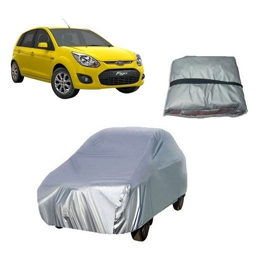 Buy Trigcars Ford Figo Old Car Cover Silver online
