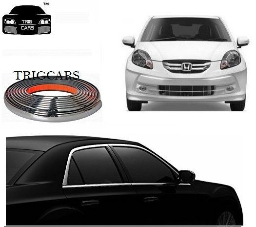 Buy Trigcars Honda Amaze Old Car Side Window Chrome Beading Moulding Roll Car Bluetooth online