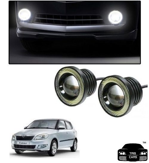 Buy Trigcars Skoda Fabia Car High Power Fog Light With Angel Eye online