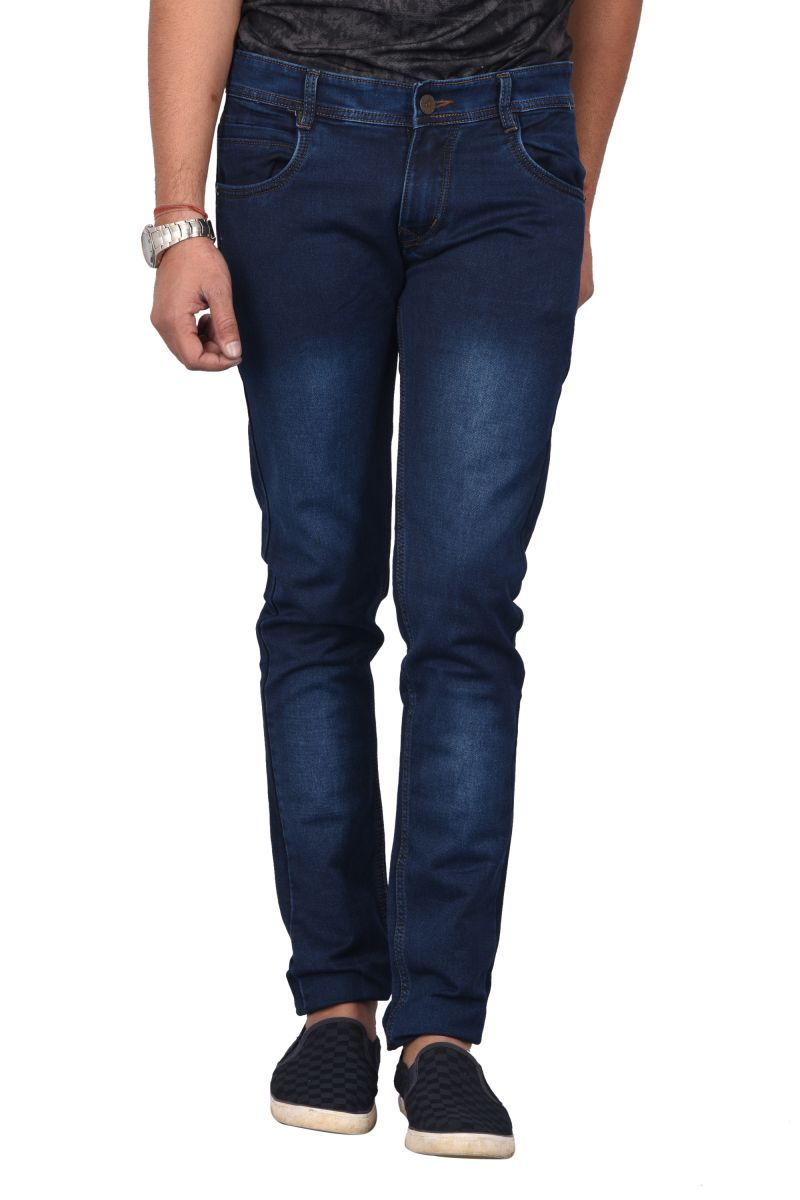 Buy Waiverson Slim Fit Dark Blue Shaded Jeans online
