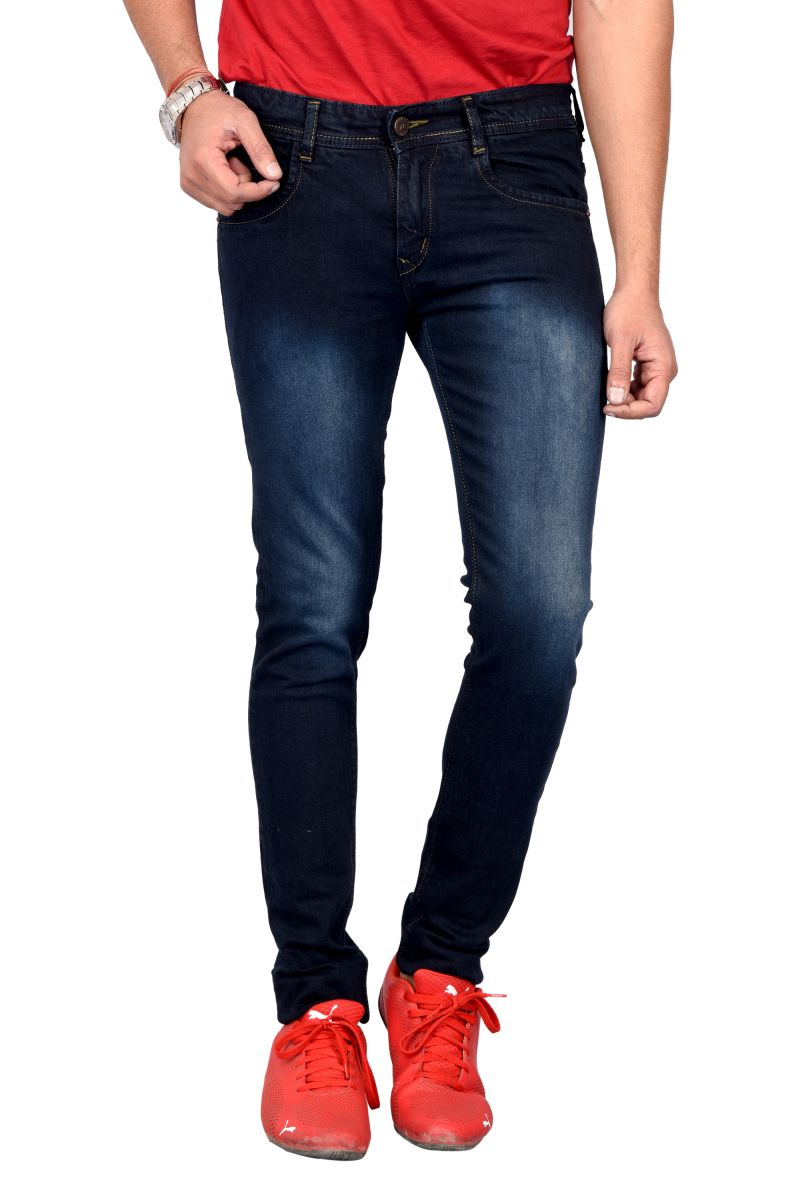 Buy Waiverson Men's Dark Blue Heavy Washed Jeans online