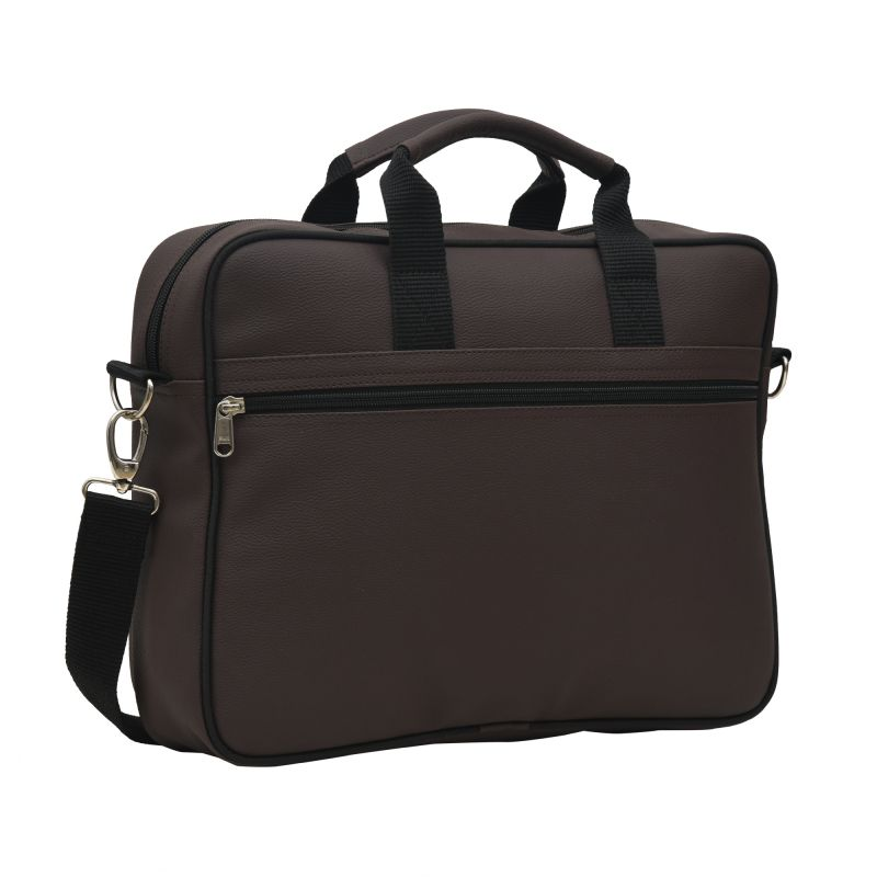 Buy Aquador Laptop Cum Messenger Bag With Brown Faux Vegan Leather - ( Code -ab-s-1463-brown ) online