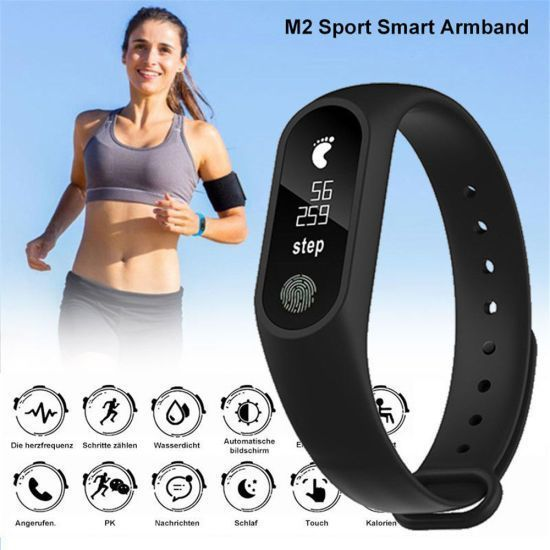 Buy M2 Waterproof Shock Proof Smart Band Watch online