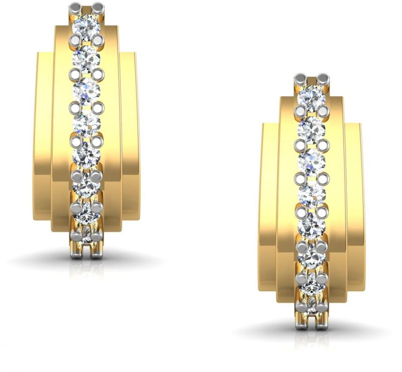 Buy Avsar Real Gold and Diamond Mumbai Earrings online