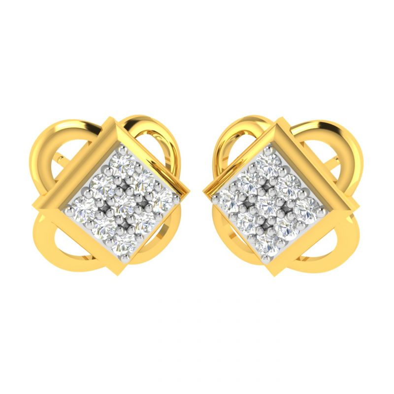 Buy Avsar 18 (750) And Diamond Minal Earring (code - Ave316a) online